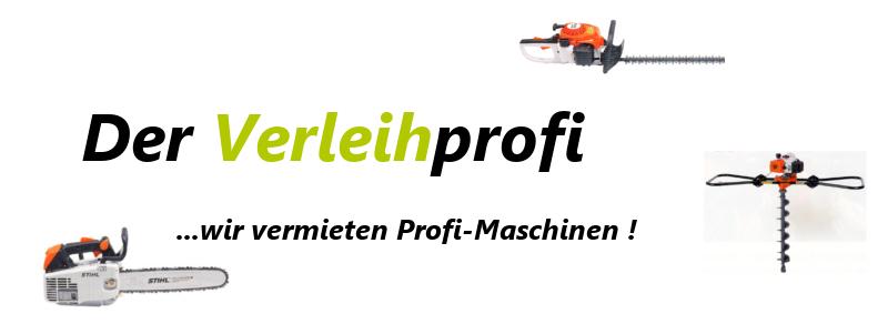 Der Verleihprofi - wir vermieten Profi-Maschinen