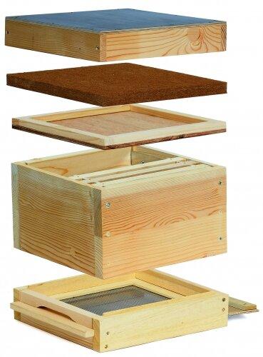 Mini Plus Holzbeute mit 6 gedrahtete Rähmchen