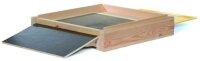 11er DN Flachboden für Holzbeute mit Keil und Schieber