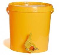 Abfüll-Eimer 25 kg mit Deckel und Plastik-Hahn