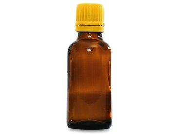 Bottiglia marrone 30 ml con contagocce giallo