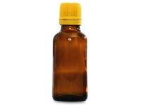 Braunflasche 30 ml mit gelber Tropfmontur