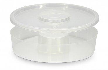 Runder Plastik Futtertrog 2 Liter