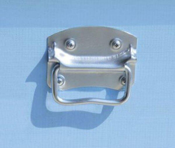 Maniglia leggera per arnia, in acciaio zincato, completa di piastra di acciaio