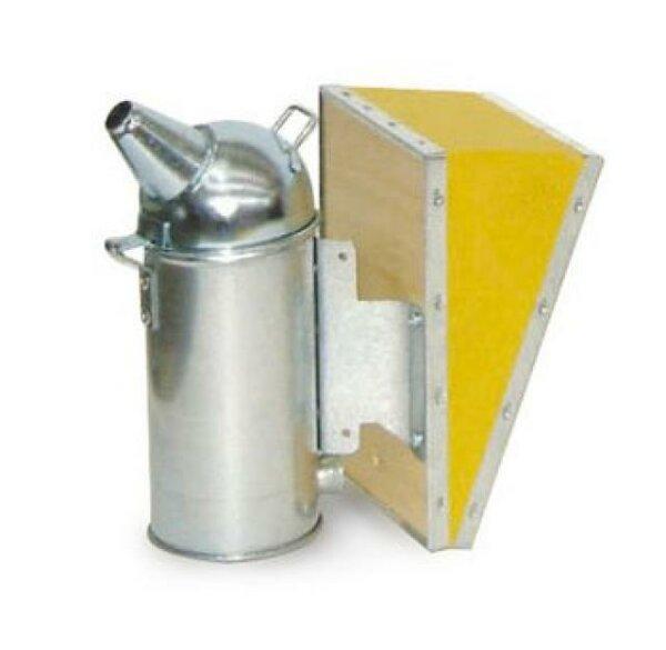 Affumicatore in acciaio inox, ø 8 cm, con mantice in vinilpelle