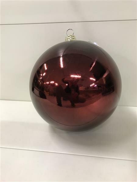 Weihnachtskugel Kunststoff Dunkelrot 250 mm oder 300 mm