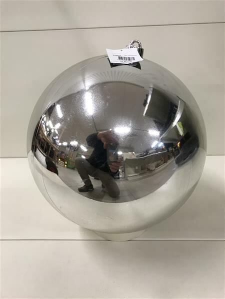 Weihnachtskugel Kunststoff Silber 250 / 300 / 400 mm